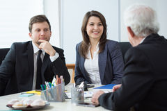 Chief talking with his employees Royalty Free Stock Photography