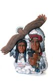Chief and Warriors. Native American ceramics painted by me Royalty Free Stock Photos