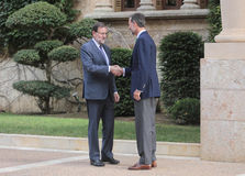 Chiefs of spain shaking hands Royalty Free Stock Photo