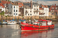Chieftain fishing boat. Going out of Whitby Harbour where it caters for sporting fishermen Stock Images