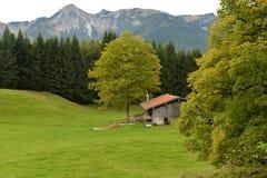 Chiemgau, Бавария, Германия Немецкий высокогорный ландшафт сельской местности Стоковые Изображения