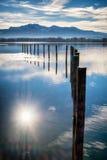 Chiemsee湖 图库摄影