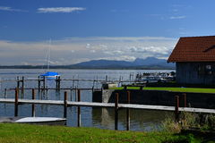 Chiemsee, Bavaria, Germany. Beautiful sunny day. Royalty Free Stock Photography