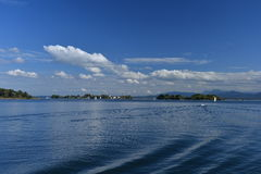 Chiemsee, Bavaria, Germany. View of the islands Royalty Free Stock Photos