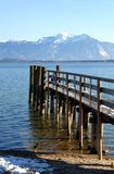 Chiemsee. In Bavaria in winter Royalty Free Stock Images