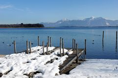 Chiemsee. In Bavaria in winter Stock Image