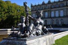 Chiemsee Bayern, Tyskland Herrenchiemsee slott Arkivfoton