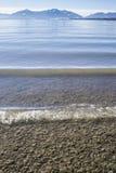 Chiemsee beach, Mountain panorama Royalty Free Stock Photography