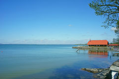 Chiemsee chiemgau mola niebieskiego nieba jeziornego krajobrazu lata Munich plenerowy bavaria Bayern Germany Deutschland Obraz Royalty Free