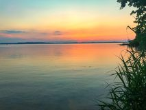 Chiemsee in the evening Stock Photos