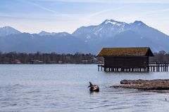Chiemsee in Germany. Chiemsee landscape in Bavaria, Germany Royalty Free Stock Photo