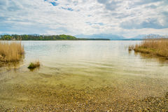 Chiemsee idilliaco Immagine Stock