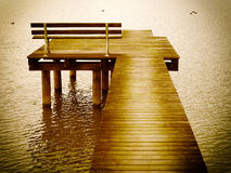 Chiemsee jetty Royalty Free Stock Photo
