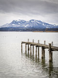 Chiemsee jetty Stock Image