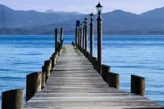 chiemsee jetty jezioro Zdjęcia Royalty Free
