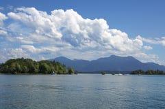 Chiemsee jezioro w lecie Zdjęcia Stock