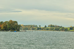 Chiemsee lake in Bavaria in autumn season Stock Images