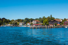 Chiemsee. Landing stage at the Chiemsee. The Chiemsee also called the 'Bavarian Sea', is the largest lake in Bavaria, Germany Stock Image