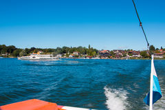 Chiemsee. Tourist boat at the Chiemsee. The Chiemsee also called the 'Bavarian Sea', is the largest lake in Bavaria, Germany Royalty Free Stock Photo