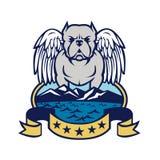 Chien américain Angel Wings Island de despote illustration de vecteur