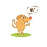 chien avec la bulle de pensée Photos libres de droits