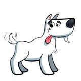 Chien blanc de Russell de terrier de bande dessinée radotant Image libre de droits