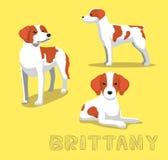 Chien Brittany Cartoon Vector Illustration illustration libre de droits