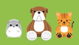 Chien Cat Hamster Pet Doll Cartoon Image stock