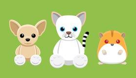 Chien Cat Hamster Pet Doll Cartoon Photos libres de droits