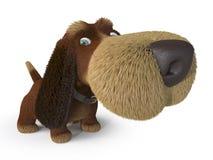 chien 3d ridicule Photographie stock libre de droits