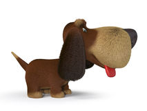 chien 3d ridicule Image libre de droits