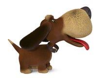 chien 3d ridicule Images libres de droits