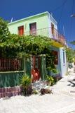 Chien de bâtiments historiques d'architecture de Rhodos Grèce Image libre de droits