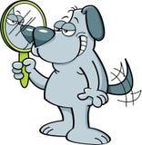 Chien de bande dessinée tenant un miroir Photographie stock