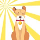 Chien de Basenji avec les yeux fermés sur Sunny Background Illustration Stock