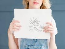 Chien de photo de peinture d'art dessinant le bouledogue français Photos stock