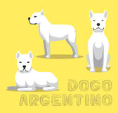 Chien Dogo Argentino Cartoon Vector Illustration Image stock