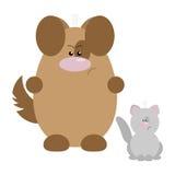 Chien et Cat Angry illustration de vecteur