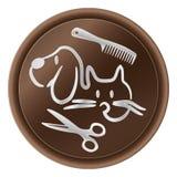 Chien et chat - logo de toilettage illustration stock