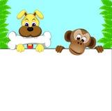 Chien et singe Photo libre de droits