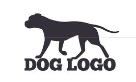 Chien Logo Design Canine Animals Silhouettes Image libre de droits