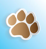 Chien Paw Print Sticker Photo libre de droits