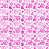 Chien Paw Prints Seamless Background de fille Illustration de Vecteur