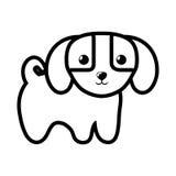 chien peu de contour adorable canin illustration stock