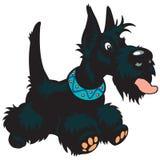 Chien terrier d'écossais de dessin animé Photo stock