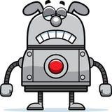 Chien triste de robot Photos stock