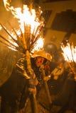 Chienbaese-Feuerparade in der Schweiz Lizenzfreie Stockbilder