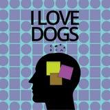 Chiens conceptuels d'amour de l'apparence I d'écriture de main Le texte de photo d'affaires ont de bons sentiments vers des canin illustration de vecteur
