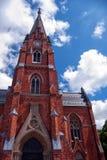 Chiesa 01 di Lund Fotografie Stock Libere da Diritti
