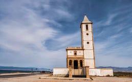Chiesa abbandonata a Almadraba de Monteleva, Almeria, Spagna Fotografia Stock Libera da Diritti